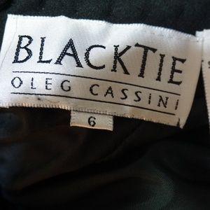 Black Tie Oleg Cassini Dresses - Black Tie Oleg Cassini Women's Blue Cocktail Dress